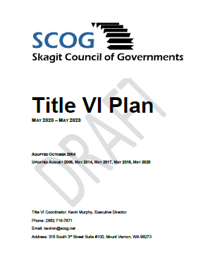 Cover of Draft Title Plan 2020-2023